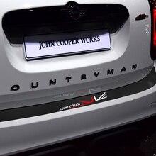 5D Carbon Fibre Vinyl Decal Union Jack Rear Bumper Trunk Edge Protector Guard Trim Stickers For MINI Cooper S Countryman F60 стоимость