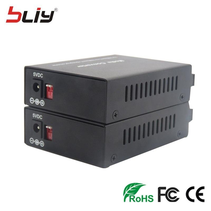 Commutateur gigabit convertisseur de média DIP LFP 1 port fibre unique vers 1 ethernet RJ45 vers fibre mini commutateur convertisseur de média avec DIP LFP