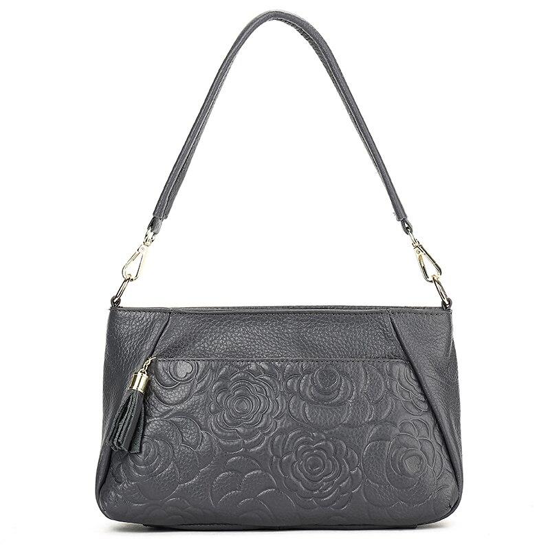 YILIAN Female bag Genuine leather Oblique cross package female fashion retro embossing small cowhide 213