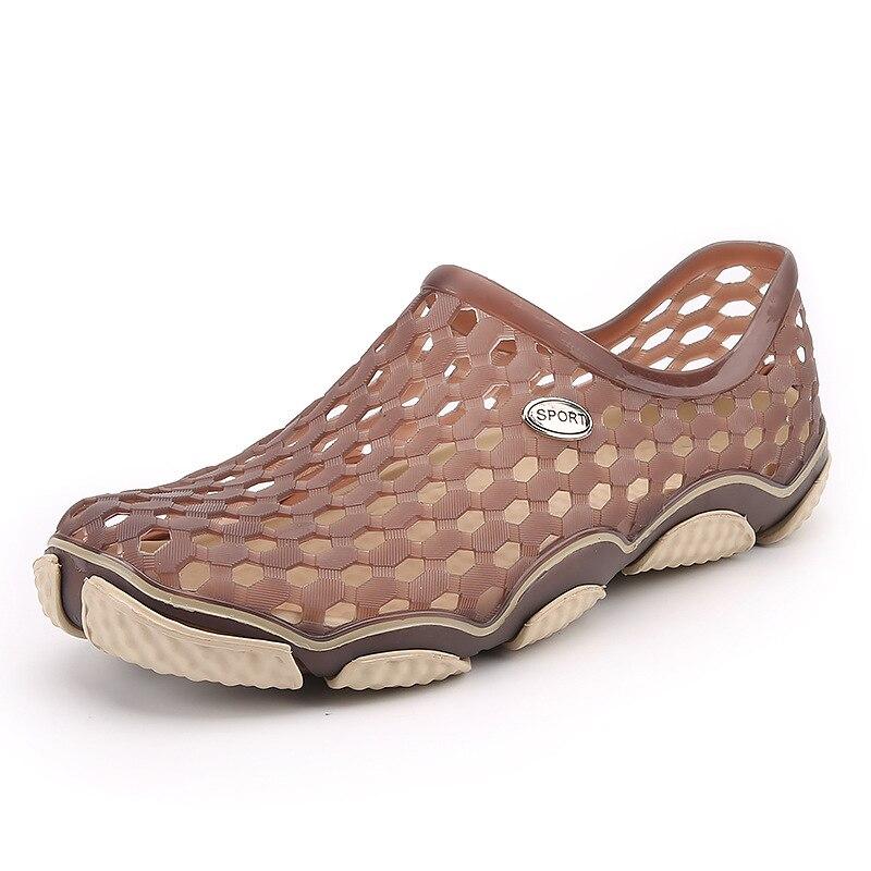 Летние Для мужчин сад сабо тапочки eva Повседневное модные Нескользящие сандалии для Для мужчин, для мужчин S слегка Тапочки мул сабо большой ...
