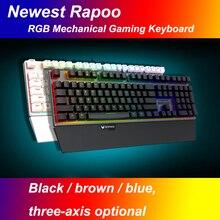 NEW Rapoo V720 RGB full color backlit mechanical gaming keyboard conflict-free full-programmable keys for dota2 lol gamer