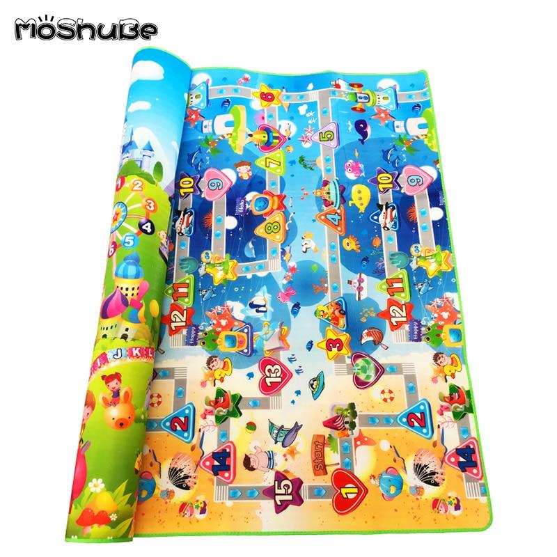 HTB1q9sla8Cw3KVjSZFlq6AJkFXaq Double Side Baby Play Mat 0.5cm Eva Foam Developing Mat for Children's Rug Carpet Kids Toys Gym Game Crawling Gym Playmat Gift