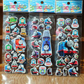 Al azar 3 unids/lote 21.5*7.5 CM Pegatinas Juguetes de Thomas the tank engine Reward Stickers Kids adhesivo Pegatinas Burbuja Pegatinas insignias