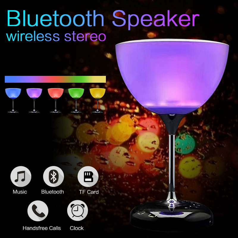 Mini LED Bluetooth Speaker Wireless Speaker Stereo Portable Touch Change Colors Suitable for Bar Party Music