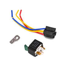 12V Relay 4 Pin With Socket Base/Wires/Fuse Included 30A Pre Wired Cables 18AWG(China)