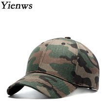 Yienws Bone Trucker Cap Male Baseball Caps Curved Brim Youth Camouflage Hats Summer Men Hats and Caps YIC462