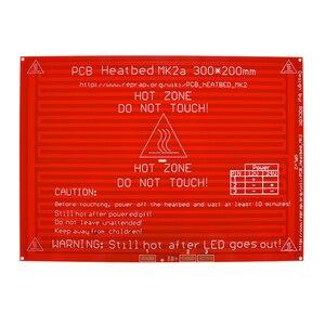 Image 4 - MK2A Heatbed 300*200*2.0 con Resistenza a Led E Cavo Reprap Rampe 1.4 Letto Caldo + 100K ohm Ntc 3950 Termistori per 3D Stampante