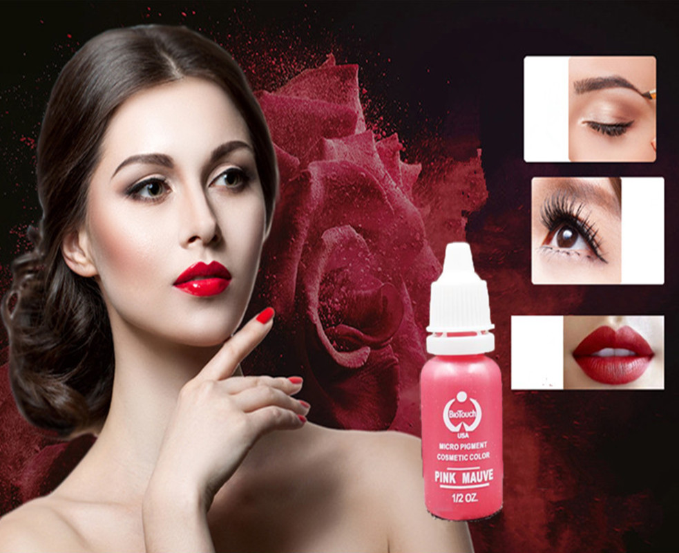 Free Shipping 5Pcs Permanent Makeup Pigment 15ml Bottle For Eyebrow Lip Liner Microblading with 23 Colors from
