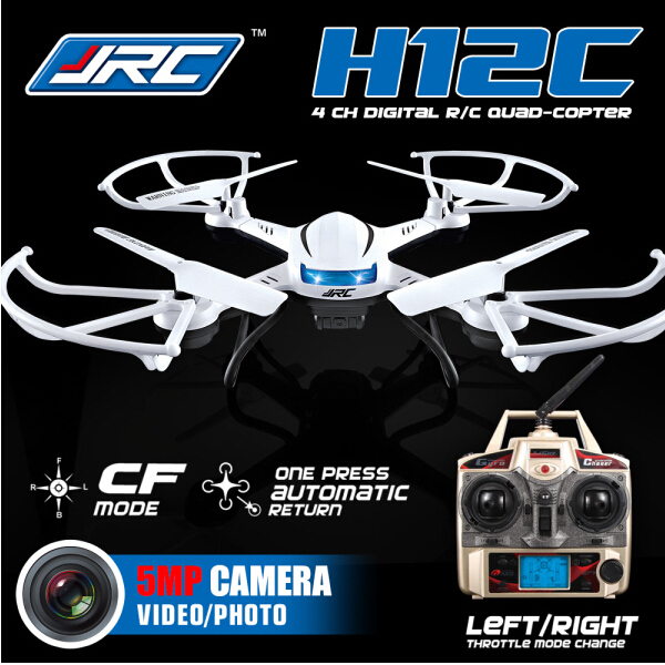JJRC H12C RC Quadcopter Headless Mode 2.4GHz 4CH 6 Axis Gyroscope 360 Degree Stumbling RTF with 5.0MP HD Camera