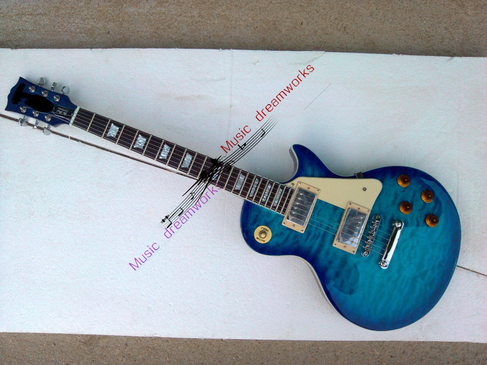 firehawk OEM shop New stores sell like hot cakes China 's electric guitar free shipping nice metal color Blue water ripple china oem firehawk shop guitar hot selling tl electric guitar stained maple tiger stripes maple wood color page 6