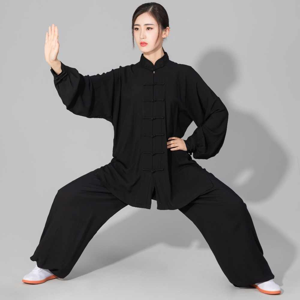 unisex high quality pure cotton Tai Chi taiji kung fu uniforms clothing Shaolin wushu martial arts suits beige/blue/black/gray