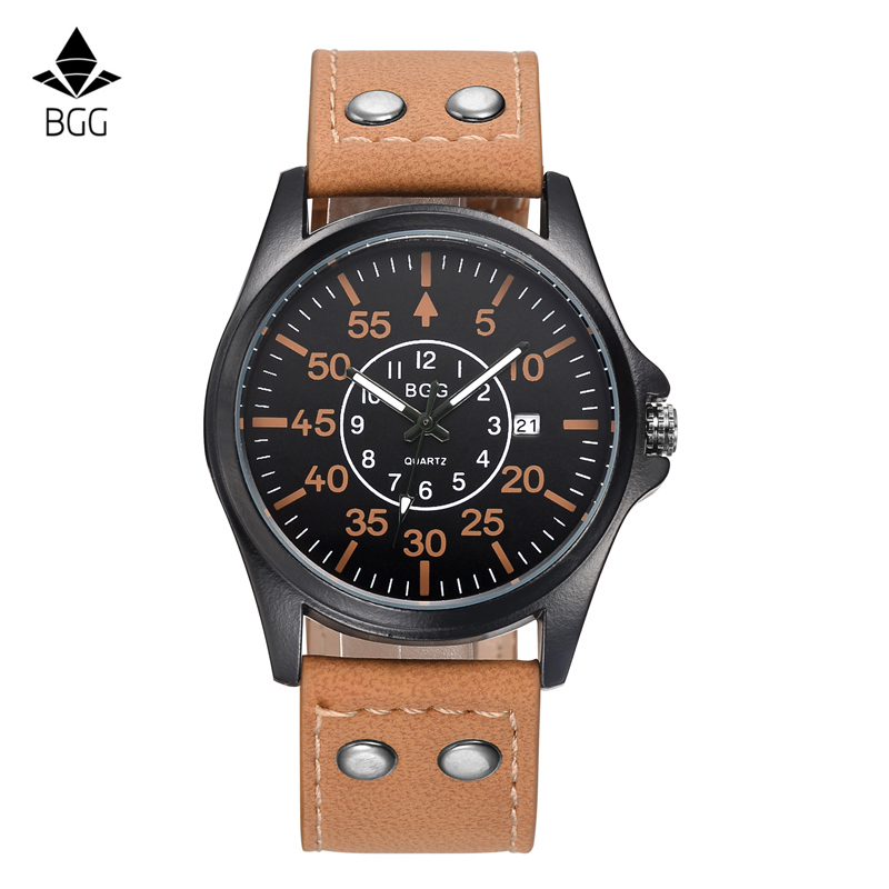 BGG Famous Brand Men's Military Watches Fashion Sports Male Wristwatches Waterproof with Calendar Army Quartz Watch Men Clock blond me 250 schwarzkopf professional