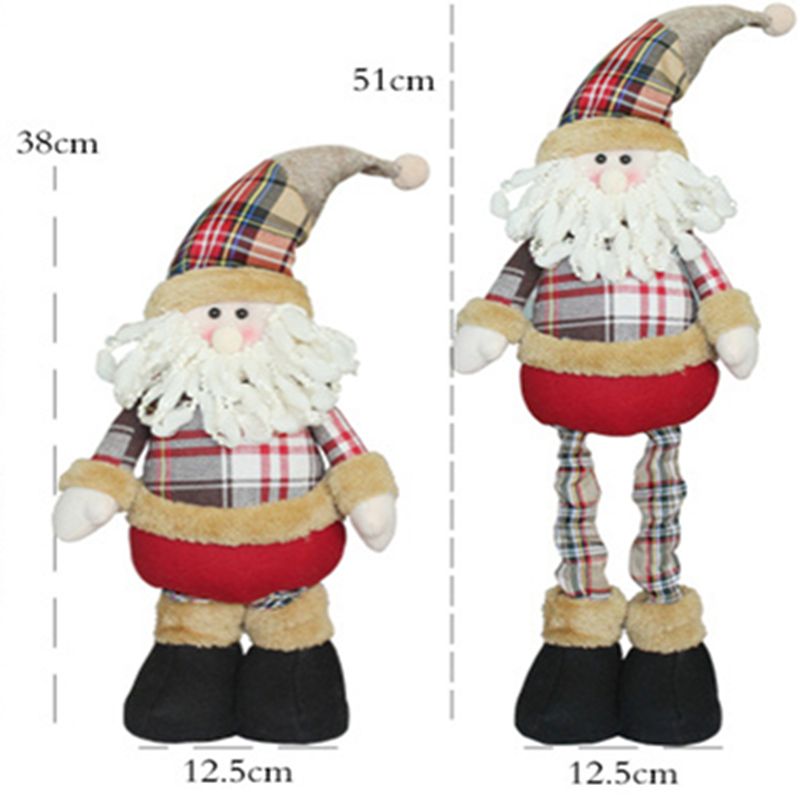 Christmas Ornaments Santa Claus Elk Christmas Tree Decorations Kid Gift Arvore De Natal Christmas Home Decoration Accessories in Pendant Drop Ornaments from Home Garden