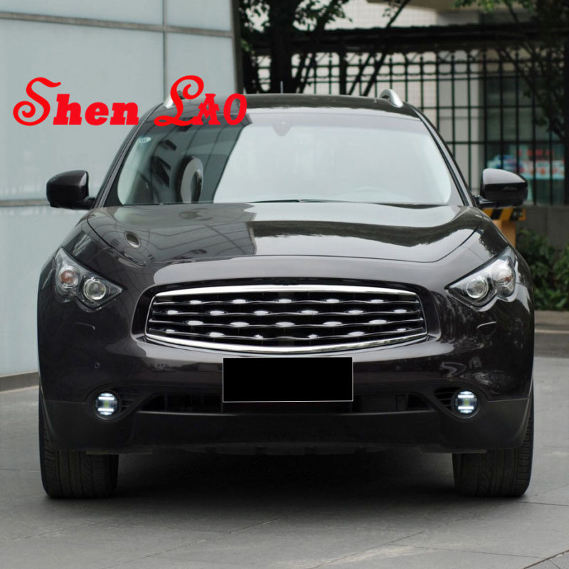 ShenLao Car Styling Angel Eye Fog Lamp for Infiniti FX35 LED DRL Daytime Running Light High Low Beam Fog Automobile Accessories akd car styling angel eye fog lamp for peugeot 2008 led drl daytime running light high low beam fog automobile accessories