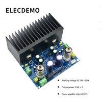 HIFI vakum tüp amplifikatör kurulu elektronik vana amplifikatör 6J1 + LM1875 amplifikatör ac18v diy kiti ve bitmiş ürün