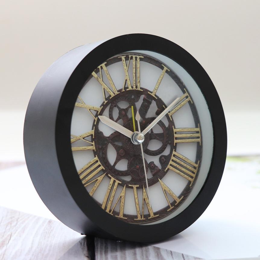 2017 NEW Silent Sweep Modern Graceful Bell Desk Creative Digital Alarm Clock BK S96