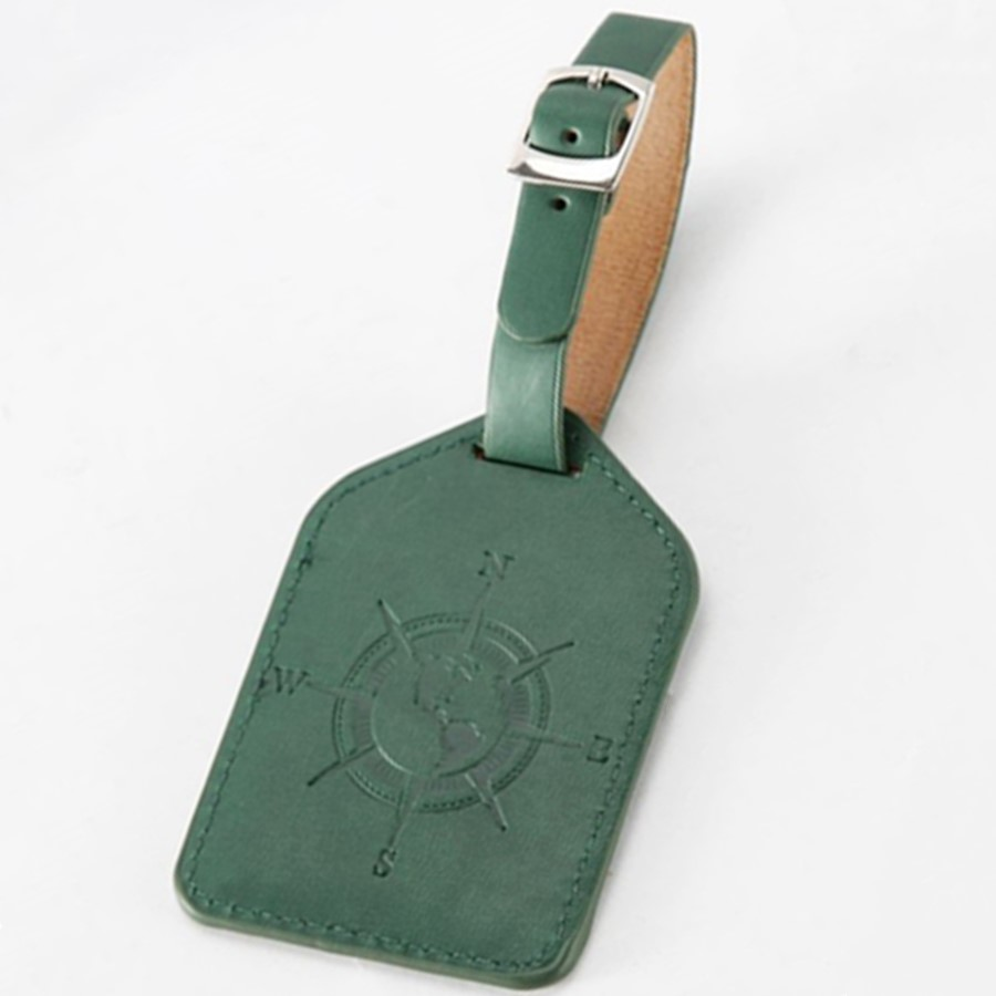 Compass Leather Suitcase Luggage Tag Wedding Label Bag Pendant Handbag Travel Accessories Name ID Address Tags LT15D
