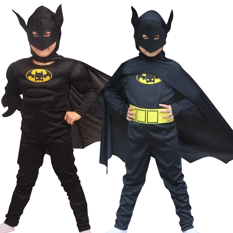 NoEnNameFree shippingBatman Costume Children's Day Superhero Halloween Fantasia Carnival anime cosplay fancy spiderman for kids