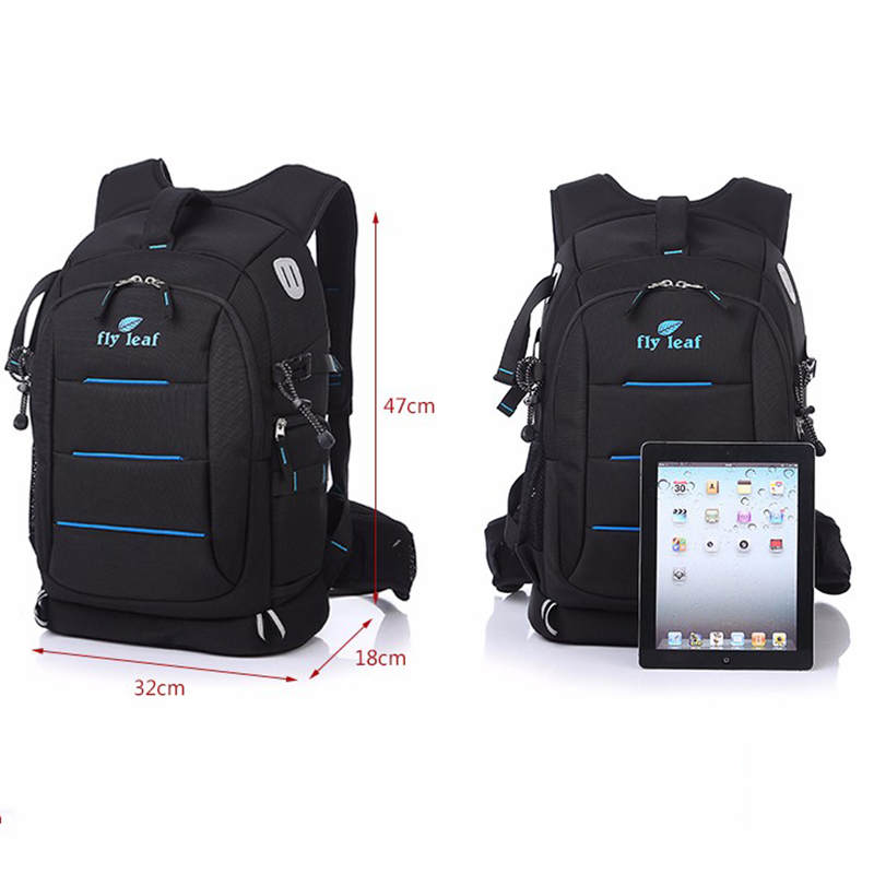 Fly-leaf FL 336 DSLR Photo Bag Camera Backpack Universal Large Capacity Travel Camera Backpack For Canon/Nikon Digital Camera 9020 kamera bag camera backpack dslr camera bag travel camera backpack video photo universal bag for canon nikon camera digital