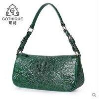 Гете Новый сумка из крокодильей кожи кожаная сумка через плечо сумка женская сумка портфель для женщин из крокодиловой кожи сумка