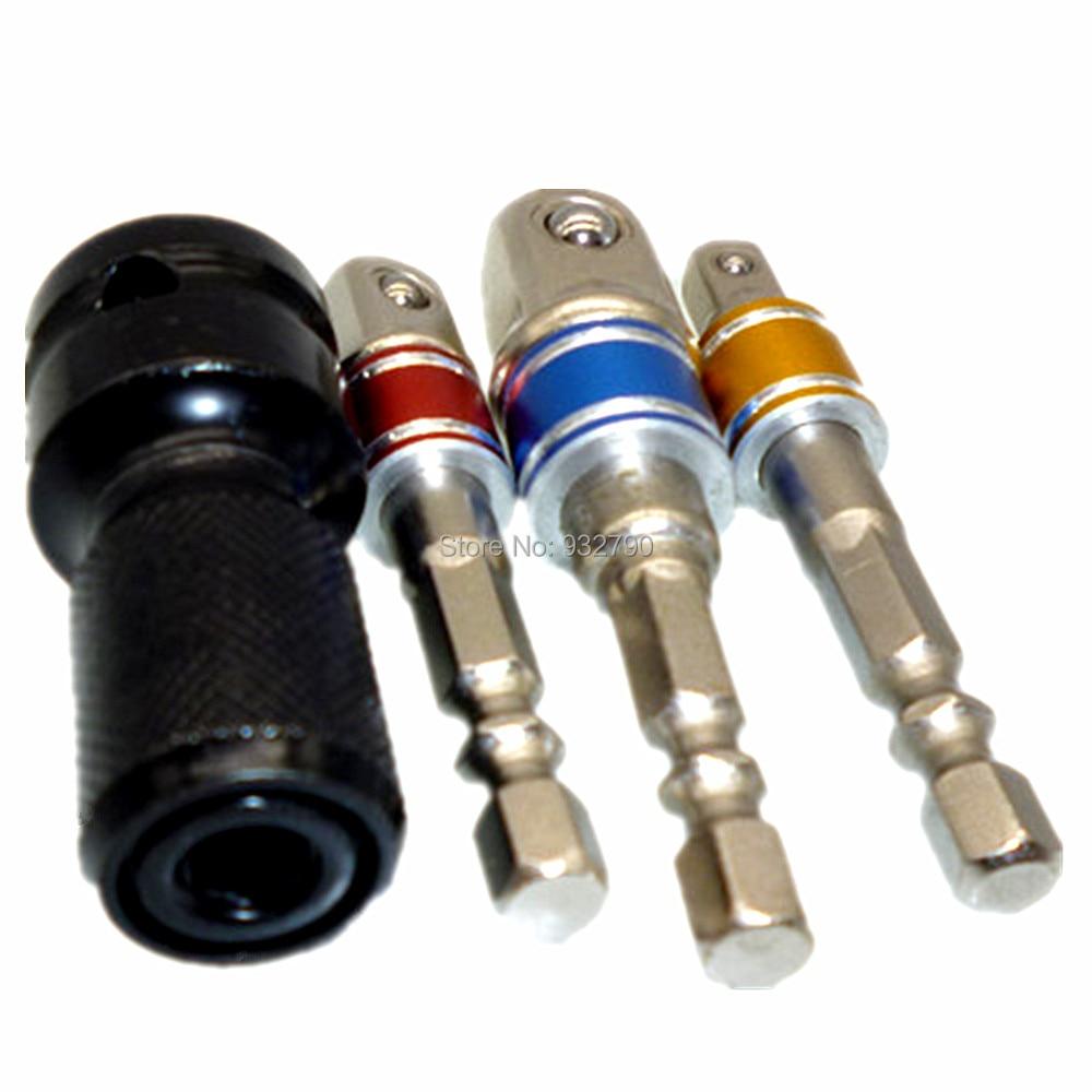 3pcs Set de extensi/ón adaptador de vaso de impacto//tuerca conductor 1//4/ 3//8 disco y 1//2/