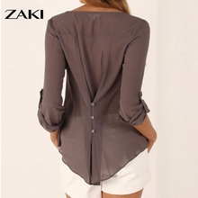 Sexy V Neck Long Sleeve Shirts Women 2016 New Brand Loose Dresses Tops Summer Casual Chiffon Blouses Ladies Plus Size Tops S-5XL