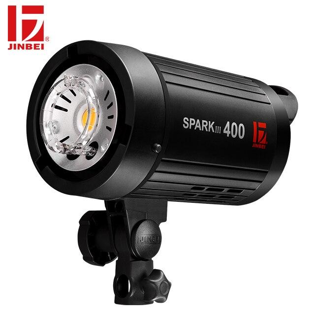JINBEI SparkIII-400 400 W Flash stroboscopique Portable GN66 avec récepteur sans fil intégré LED lampe de modélisation Studio de mariage Commercial