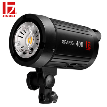 JINBEI SparkIII-400 400W Portable Strobe Flash GN66 with Built-in Wireless Receiver LED Modeling Lamp Studio Wedding Commercial