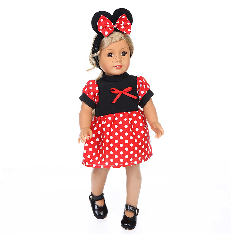 Lovely Casual Wear For 18 Inch American Girl Baby Born Dolls Clothes Dress  Accessories Handmade Suit Childrens Girls Toy Gifts 48a17ed8fb67