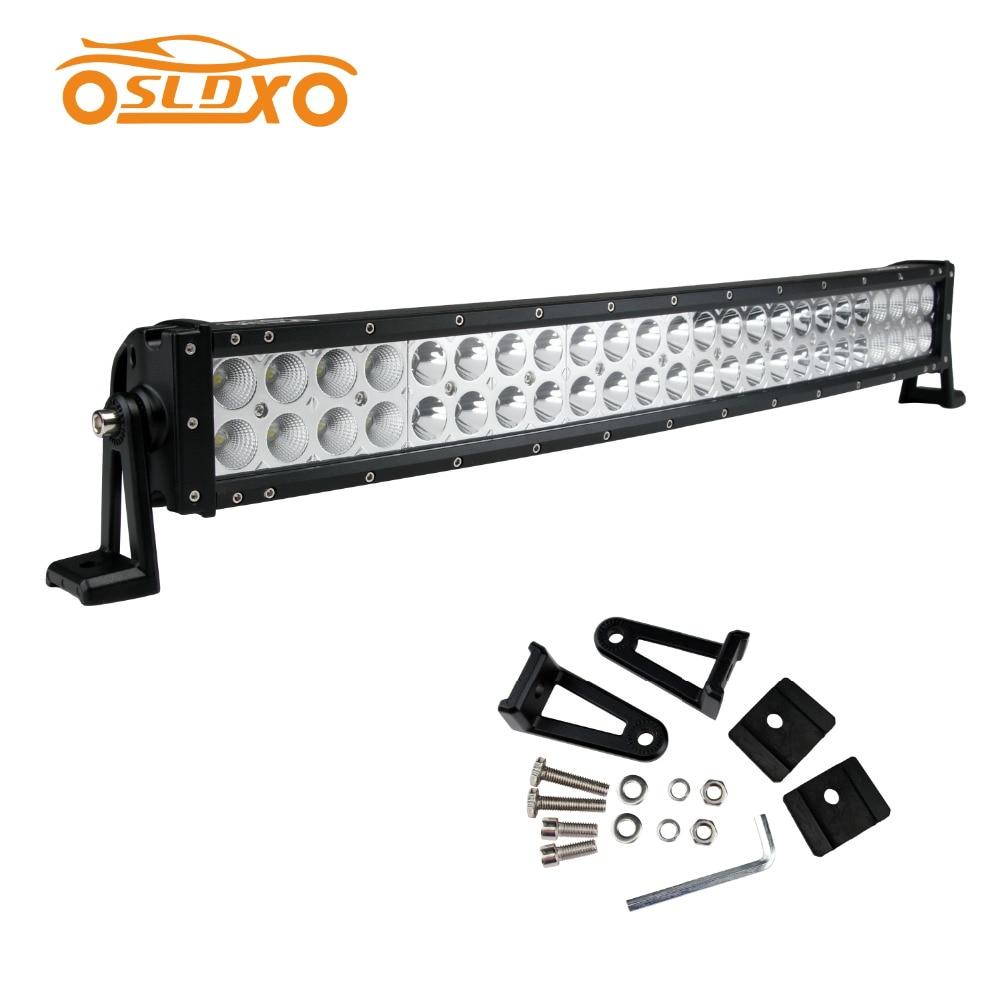 sldx 26 u0026 39  u0026 39  144w curved led light bar spot flood combo for