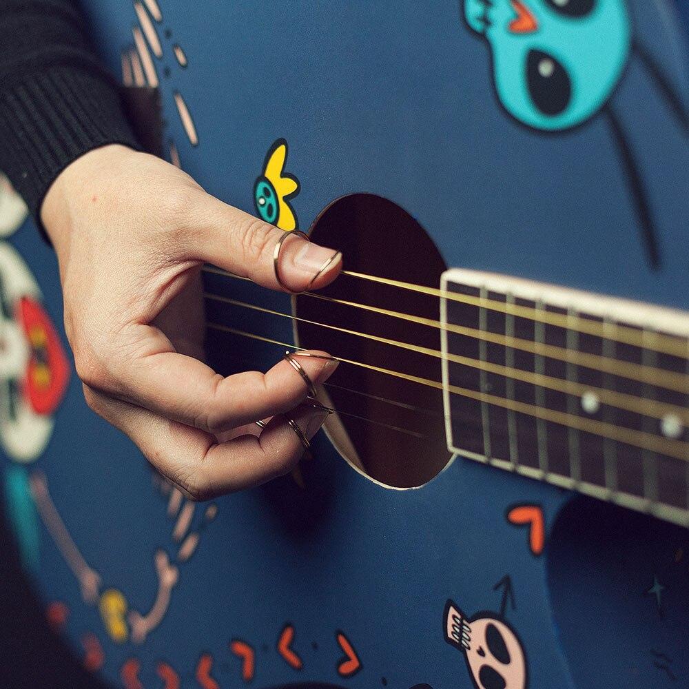 Vangoa 6 packs Metal Finger Picks for Banjolele, Ukulele, Acoustic Electric Guitar, Bass