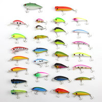 30PCS Fishing Lures Set Mixed Hard Baits Artificial Make Quality Professional Bass Crankbait Fishing Tackle