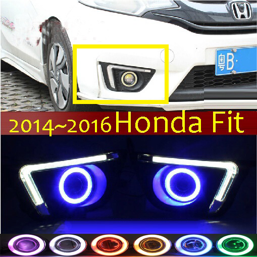 Здесь можно купить   Fit fog light LED,2014~2016;Free ship!Fit daytime light,2ps/set+wire ON/OFF:Halogen/HID XENON+Ballast,Fit Автомобили и Мотоциклы