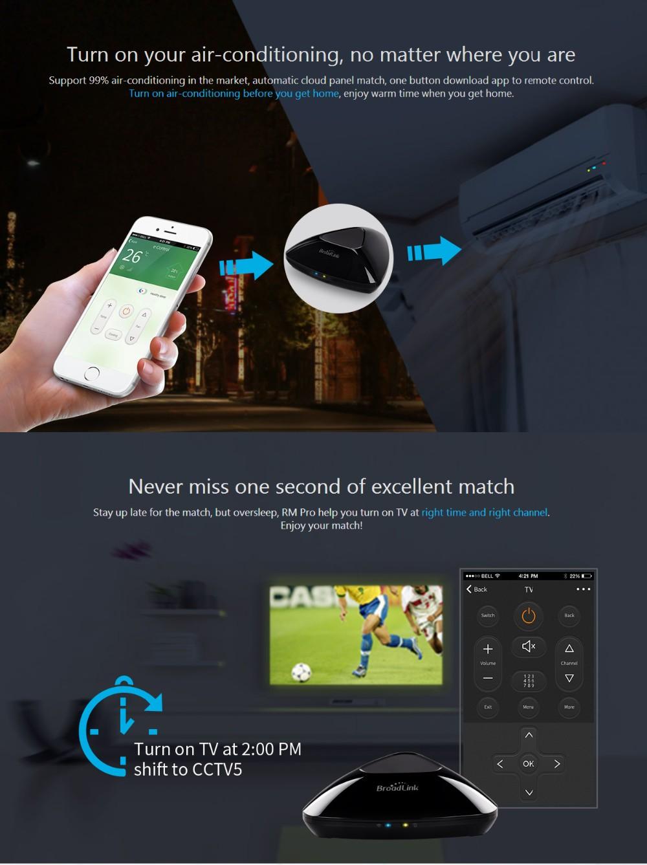 Broadlink RM3 RM Pro/RM mini3 Automatyki Inteligentnego Domu Uniwersalny Inteligentny Pilot WIFI + IR + RF Przełącznik dla iOS Android 15