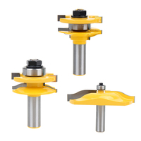 3PCS Shank Ogee Rail Stile Lama Mobile Panel Router Bit Solid Hardened Steel Industrial Quality Router