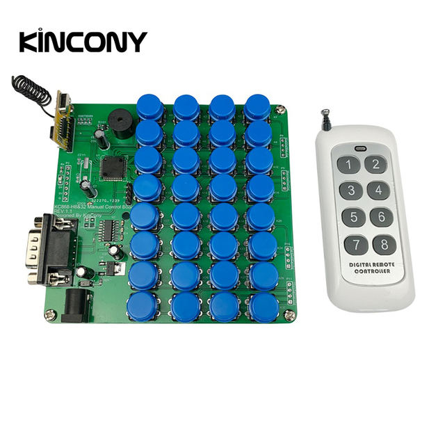 32 Buttons Manual Control RS232 Keyboard KC868 Smart Home Automation Module Controller 433Mhz RF Domotica Hogar