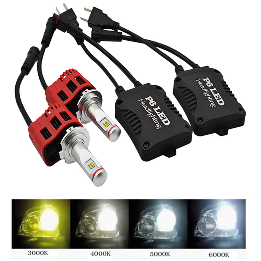2 Bulbs 45W Car LED Headlamp H4 LED 4000K Auto Fog Lamp Light H1 H3 H7 Headlight Bulb LED H11 P6 3000k 4000K 5000K 6000K 9000LM md663bt