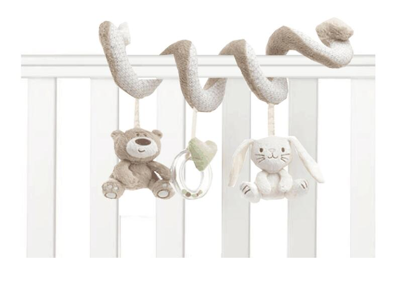 soft baby bed Hanging toy Spiral Activity rabbit Round the Bed Baby Educational Rattles Toys