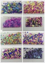 Lowest Price 500Gram/36.44euro-bag glitter powder glitter holographic DOTS points sequin craft chunky1-3mm holographic * new *. стоимость