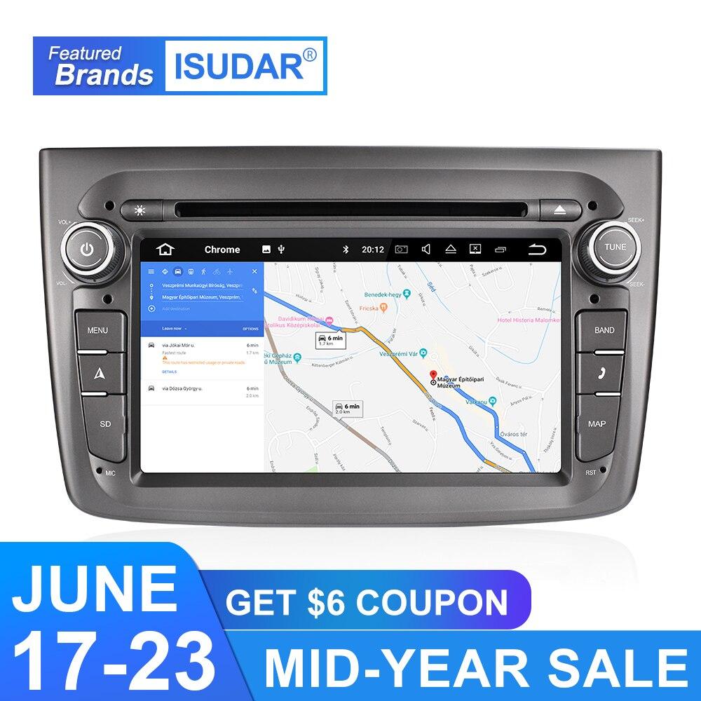 Isudar 9 2 Din Android Rádio Auto Para Alfa Romeo Mito 2008-Quad Core RAM 4G ROM 32G de Vídeo Multimídia Carro DVD Player GPS DVR USB