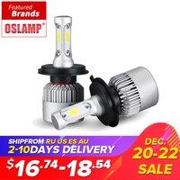 Oslamp H4 LED Car Headlight Bulb Hi Lo Beam Auto Headlamp 72W 8000LM COB Led Headlights