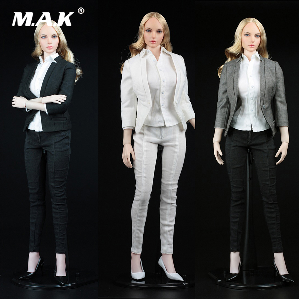 DIY A012 1/6 Female Accessory Women's Slim Suit Office Clothes Lady's Commuter Suit Costume for Phicen 12