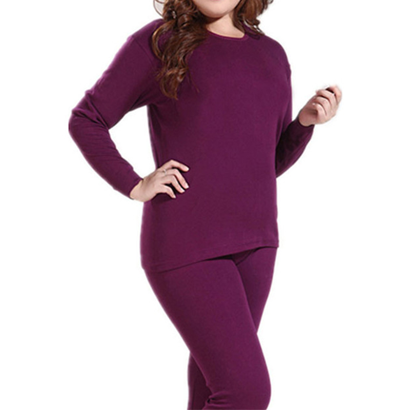 New Arrivals Winter Warm Women's Thermal Fleece Underwear Set Ultra-thin Loose Soft Breatnable Long Johns Female Clothing