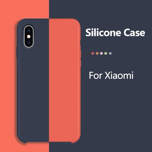 Caso rojo mi nota 5 caso cubierta de silicona suave funda de teléfono para Xiaomi A2 Lite mi 8 Lite cubierta Coque Xio mi Max 3 mi x 2 2 S 6A