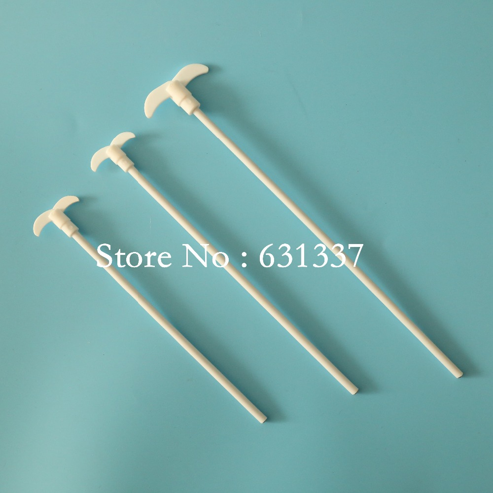 laboratory PTFE 50cm stir paddle Teflon stirrer stainless steel core muddler stirring rod ptfe stirrer mixing paddle teflon f4 stir bar length 45cm size 450mmx85mmx7mm single two leaves