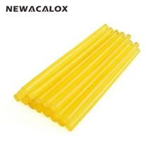 NEWACALOX 20pcs/lot Yellow Hot Melt Glue Sticks 7mm 150mm Adhesive Gun Alloy Accessories DIY Tools
