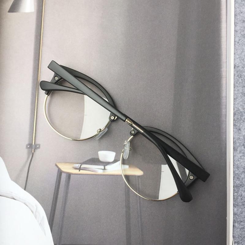 RBUDDY Fake Round Clear Glasses Halvrama Glasögon Transparent Ramar - Kläder tillbehör - Foto 4