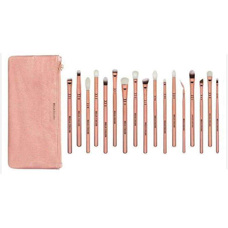 BELLA CULLEN 17pcs Pro Brand make up brushes Makeup Artist Cosmetics Pink Bag Rose Golden Vol. 3 eye makeup brushes set case guardians team up vol 2