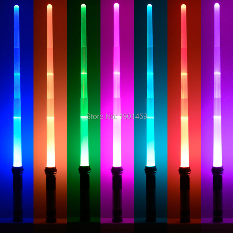 New 7 Colors Star Wars Scalable Lightsaber With Light & Sounds Halloween party props Sword Toys Cosplay Weapons for Christmas star wars lightsaber weapons cosplay sword with light