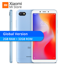 Küresel Sürüm Xiaomi Redmi 6A 2 GB 32 GB 6 Bir Helio A22 Cep Telefonu 13.0MP Arka Kamera 3000 mAh 5.45
